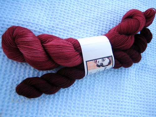 Duet Sock in Bordeaux
