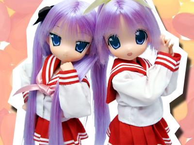 らき☆すた_かがみ_つかさ_doll