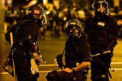 Riot Cops (Tony Webster) Tags: riot stpaul twincities saintpaul protesters gop rnc riotgear anarchists republicannationalconvention teargas gasmasks riotcops rioting 20080902 ccbync20150103 ccbysa20150110 cgg1508