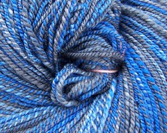 blue steel yarn closeup 1
