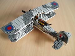 Swordfish (2) (Mad physicist) Tags: lego aircraft military camo camouflage fairey torpedo minifig swordfish minifigure