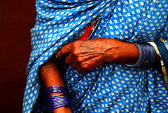 For Beyond (MayaMem) Tags: blue woman india tattoo hands feminine indian culture tribal peoples tribes society orissa socialdocumentary bangles majhi kondh