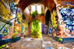 templegraf (mudpig) Tags: light urban newyork colour history water geotagged graffiti graf ruin longisland graffitti works freeport exploration baldwin hdr urbex brooklynwaterworks mudpig stevekelley