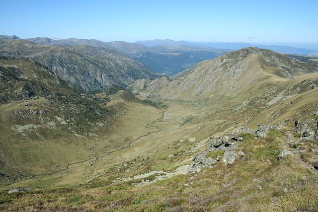 Vall�e du Rieutort from Cr�te des Isards, Pyrenees, France