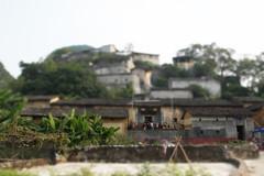 tilt shift of a village in China (air maxx) Tags: china desktop wallpaper art nature cn photoshop canon toy model fake shift ps hong  tilt  tiltshift  lifebeautiful
