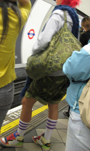 Tube Roundel Meets Camouflage Meets Athlete