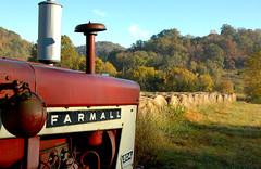 King Farm (capn madd matt) Tags: tractor farm hills wv solstice transportation hay bails farmall ih kingfarm twtme thehang