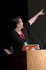 Ezra during his Keynote
