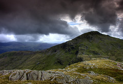 Wales, Snowdonia: Mt Aran from Mt Snowdon's South Ridge (Tim Blessed) Tags: uk sky mountains nature clouds landscape countryside scenery snowdonia northwales singlerawtonemapped