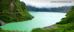 Mt. Pinatubo Caldera (Storm Crypt) Tags: travel sky mountain lake tourism water rock metal clouds forest landscape volcano lava rocks asia southeastasia waterfront earth crater caldera vegetation ash craterlake vulcan mountainside volcanoes geology volcanic geothermal eruption mtpinatubo philipines luzon freshwater pampanga seismic tarlac volcanology zambales ringoffire deformation stratovolcano aerosols travelphotography activevolcano dacite geologists sulfuric so2 aeta philippinetourism wowphilippines planetarygeology tephra vulcanology seismographs mywinners philippineislands soilmechanics centralluzon ancestralland luzonisland adesite rockdeposits westpacificrim fieldofgeology