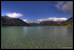 Across the Lake (stetre76) Tags: blue schnee sky panorama white lake snow mountains reflection tourism sports nature water clouds swimming relax boats mirror see scenery wasser view hiking spiegel natur relaxing himmel berge romantic blau weiss spiegelung hdr wandern tourismus touristic achensee reen harmonic entspannung erholung aplusphoto