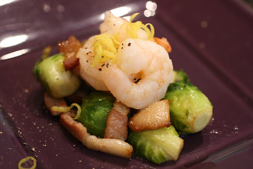 Shrimp Bacon Brussels Sprouts