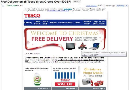 Tesco email offer