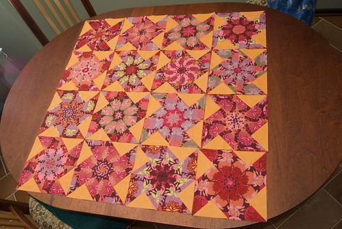 "aleidoscope Quilt ""Empress Bouquet"""