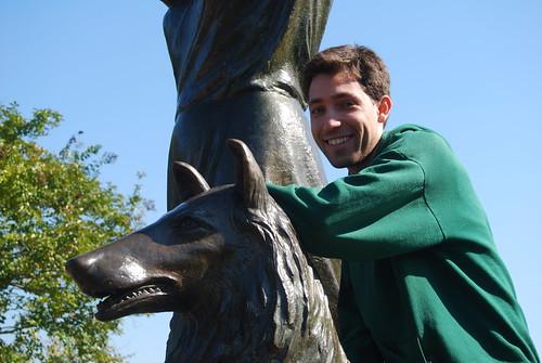 Paul on the dog