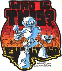"Blast from the Past #34 repost: ""Who is this? Fugitoid"" iron-on ..by Eastman and Laird (( 1983 )) [[ Courtesy of Laird ]]"