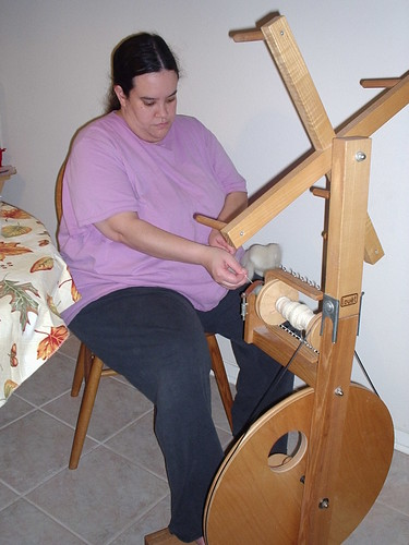Spinning on Mom's <span class=
