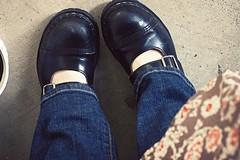 11.02.08 (whitneybee) Tags: black concrete 50mm shoes jeans maryjanes steeltoe gripfast nobloshoemo