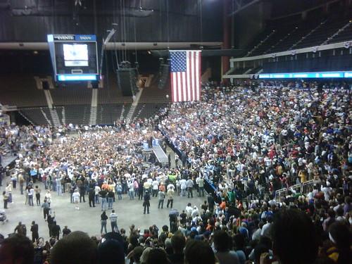 Obama rally, Jacksonville FL