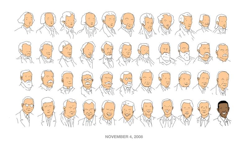 43 white guys, 1 black guy