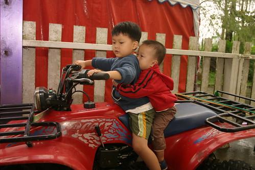 你拍攝的 三富花園農場:小肯 + 楷崴兄弟。