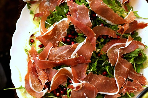 Fennel, Prosciutto, and Pomegranate Salad