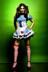 Alice in Wonderland (Ali Brohi) Tags: portrait canon studio costume aliceinwonderland seedingchaos citycollegeofny moazzambrohi 1dsmarkiii halloween2008 ccnyphotographyclub moazzambrohicom httpwwwmoazzambrohicom wwwmoazzambrohicom