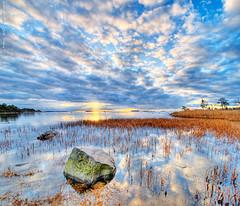 Archipelagic sky (Vertorama) (Rob Orthen) Tags: sea sky reflection rock clouds sunrise suomi finland reeds landscape still helsinki nikon europe searchthebest scenic rob tokina explore scandinavia meri hdr maisema vesi archipelago syksy pinta d300 1116 kallahti kallvik orthen vertorama roborthenphotography tokina1116 tokina1116mm28 seafinland