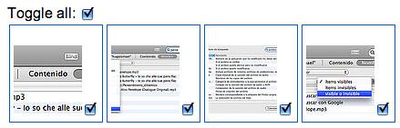 Captura de pantalla de h4ppierphotos seleccionando todas las fotos con el tag alpasado