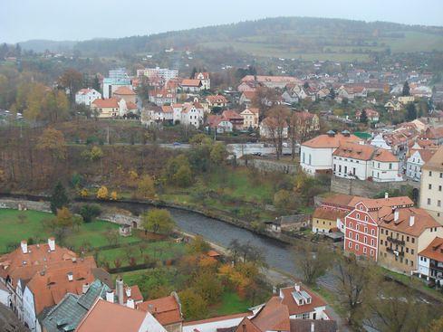 Český Krumlov - from State Castle Tower (Zámeká véž)
