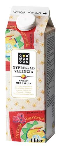 God Morgon Nypressad Valencia apelsin med hallon