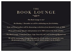 Book Lounge Turns One - Party Invite