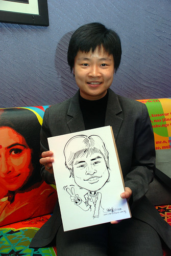 Caricature live sketching for Dow Jones 14