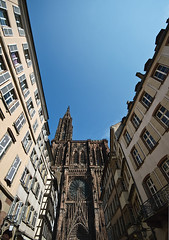 Extra Wide (Philipp Klinger Photography) Tags: blue windows sky house france tower church facade angle cathedral wide strasbourg alsace philipp munster rosetta klinger aplusphoto dcdead vanagram