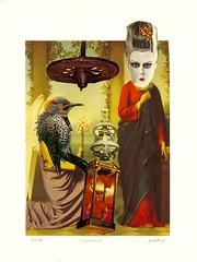 Annunciation (nkimadams) Tags: bird wheel collage angel mask mary machine annunciation hourglass