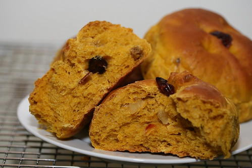 Cranberry-Pumpkin Rolls (King Arthur Flour recipe)