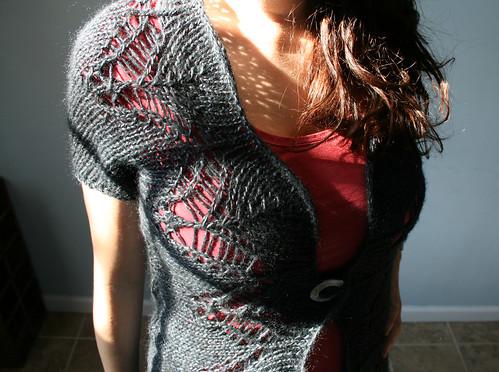 Eyelet vest - front detail