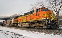 Burlington Northern Santa Fe GE C44-9W 4844 (Harry Gaydosz) Tags: pennsylvania trains pa ge bnsf locomotives railroads generalelectric burlingtonnorthernsantafe wampum csxtq388 bnsf4844