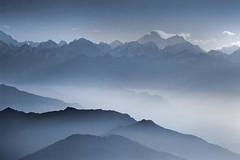 Nepal - Himalayas - Everest Panorama - blue