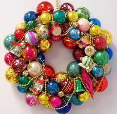 Another vintage ornament wreath #1