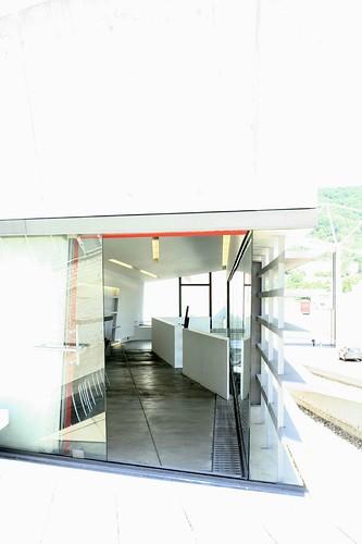 Zaha Hadid - Vitra Firehouse View from Terrasse to Kitchen