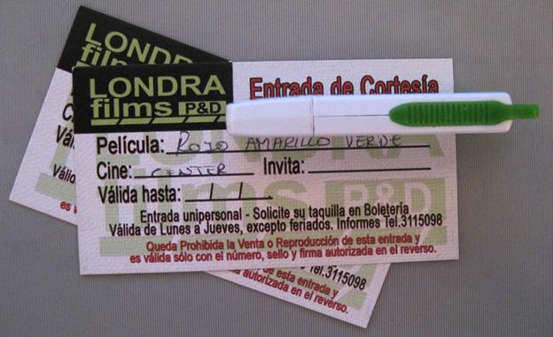 entradas de cortesía al cine para Rojo, Amarillo y Verde