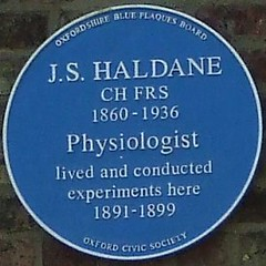 Photo of J. S. Haldane blue plaque
