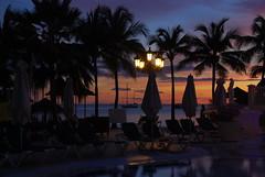 Orange sky at night . . . photographer's delight (kstraw2) Tags: ocean trees sunset pool silhouette st sailboat grande ship sandals palm resort lucia nikond80 kstraw2