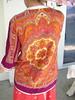 60s Vintage Paisley Hippie Shirt (JoulesVintage) Tags: gold 60s buttons indian fuchsia 1960s sixties seventeen hotpink joulesvintage vintagepaisleyhippieshirt whitebraidtrim
