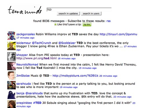 Twitter Loves TED2008