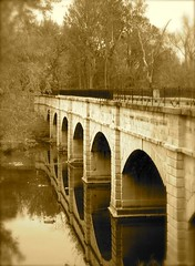 Monocacy Aqueduct (Vicki's Pics) Tags: bridge water sepia geotagged maryland aqueduct cocanal monocacyriver interestingness225 interestingness466 i500 monocacyaqueduct chesapeakeandohiocanal diamondclassphotographer flickrdiamond chesapeakeandohiocanalnationalhistoricpark