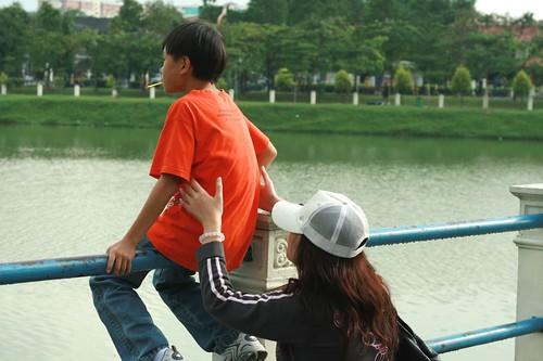 Miharu holding Ming Wei