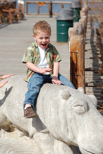Garrett at the zoo