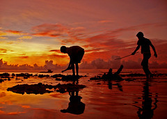working so hard (ahmed (John)) Tags: blue sunset red sea sky people cloud silhouette yellow kids work hard calm maldives interest refelection sunsrise fpc supershot abigfave platinumphoto anawesomeshot superbmasterpiece villingilli skyascanvas